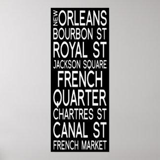 Tipografia de Nova Orleães   Pôster
