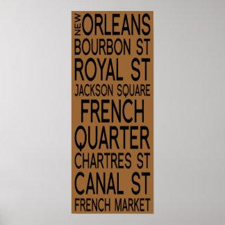 Tipografia de Nova Orleães | Poster