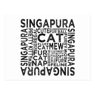 Tipografia do gato de Singapura Cartão Postal