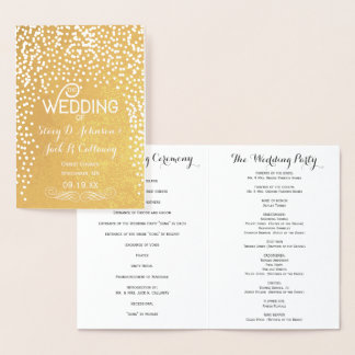 Tipografia dos confetes do ouro do PROGRAMA do Cartão Metalizado