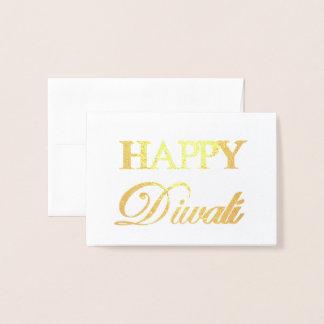 Tipografia elegante feliz da folha de ouro de cartão metalizado