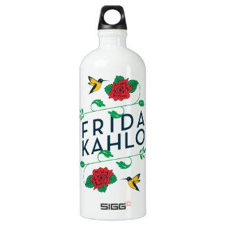Tipografia floral de Frida Kahlo | Garrafa D'água De Alumínio