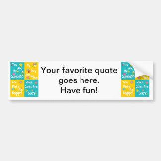 Tipografia inspirador das frases - colagem adesivo para carro