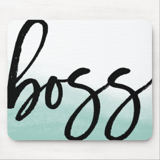 Tipografia moderna do chefe mousepad