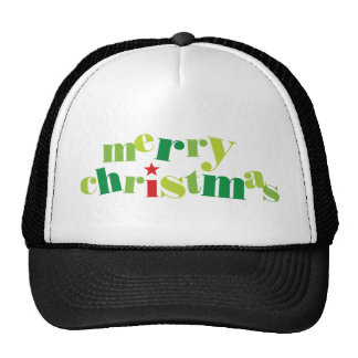 tipografia moderna do Feliz Natal Boné