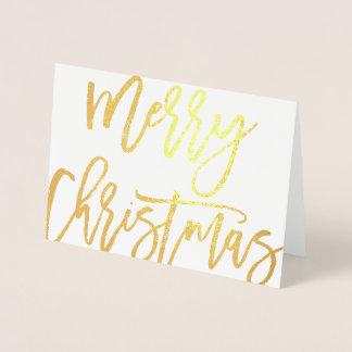Tipografia moderna do Feliz Natal corajoso do Cartão Metalizado