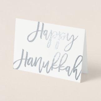 Tipografia moderna feliz corajosa do roteiro | cartão metalizado
