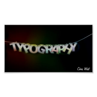 Tipografia Pôster
