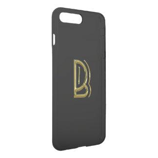 Tipografia preta do chique da inicial B do Capa iPhone 8 Plus/7 Plus