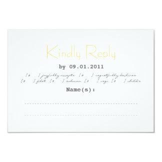 Tipografia que Wedding RSVP nas cinzas e no Convite 8.89 X 12.7cm