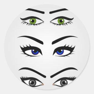 Tipos diferentes dos olhos das mulheres adesivo