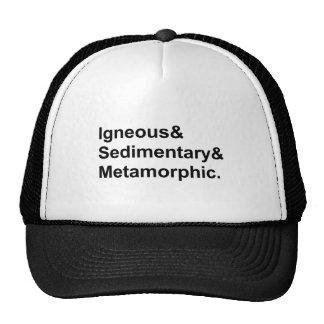 Tipos metamórficos sedimentares ígneos de   de boné