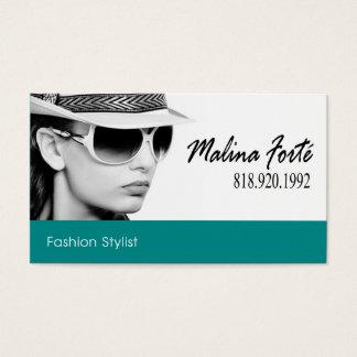 Tira da cerceta do b&w | do estilista da forma cartão de visitas