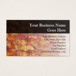 Tira de bacon fritada cartão de visitas