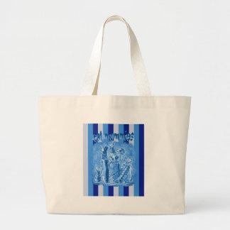 tira do cat_mummies_blue bolsa tote grande
