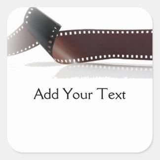 Tira do filme com reflexão no branco adesivo quadrado
