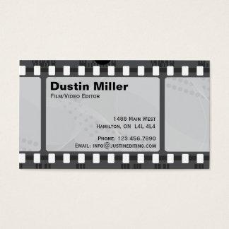 Tira do filme - preto cartão de visitas