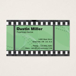 Tira do filme - verde cartão de visitas