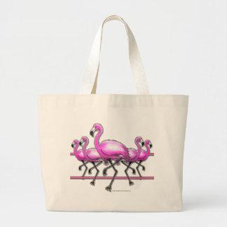 Tira do flamingo bolsa para compras