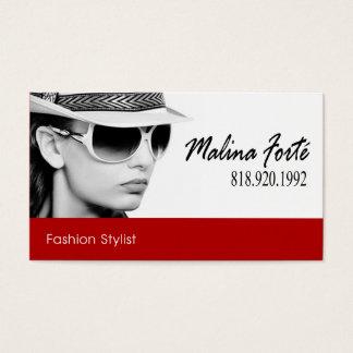 Tira vermelha do b&w | do estilista da forma cartão de visitas