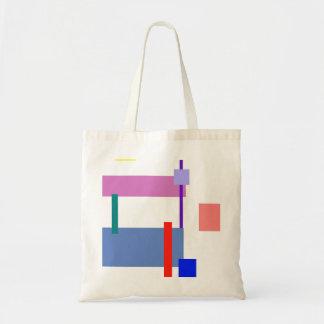 Tira vermelha do minimalismo customizável bolsa para compras
