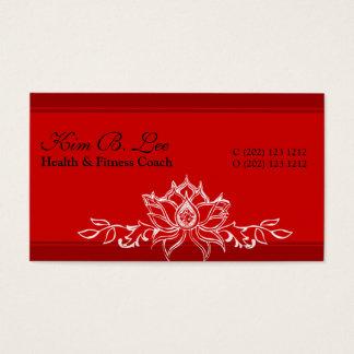Tiragem asiática vermelha de Lotus sagrado do Cartão De Visitas