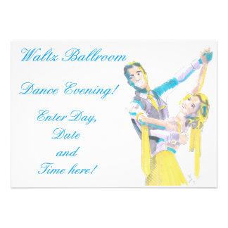 Tiragem dos dançarinos do salão de baile da valsa