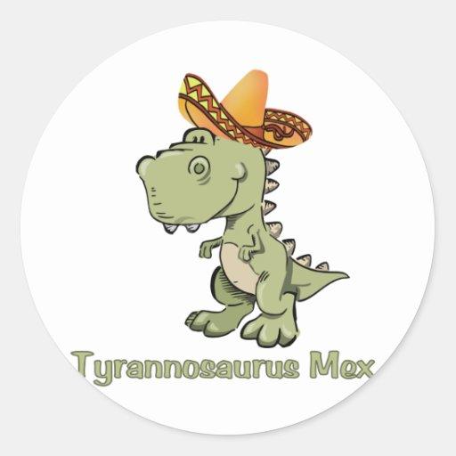 Tiranossauro Mex Adesivos Em Formato Redondos