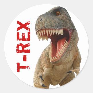 Tiranossauro Rex Adesivo Em Formato Redondo