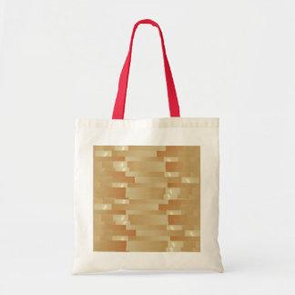 Tiras de seda do ouro do cetim - sombra Art101 Bolsa Para Compras