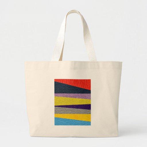 Tiras esmagadas bolsa de lona