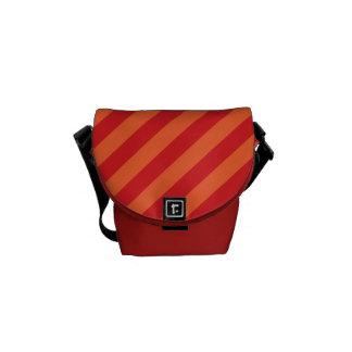 Tiras vermelhas stripes conversas bolsas mensageiro