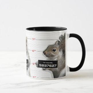 Tiro de caneca do esquilo