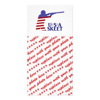 Tiro dos homens dos EUA Cartão Com Foto