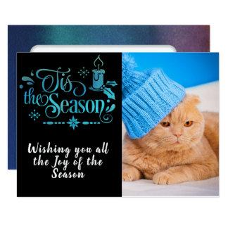 Tis o cartão com fotos da estação/Natal