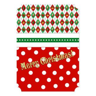 Tis os convites da festa de Natal da estação