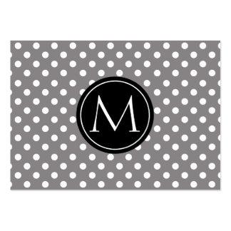 Titânio do monograma do teste padrão de bolinhas cartão de visita grande