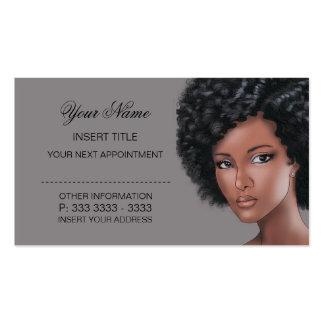 Titânio - nomeação da beleza cartão de visita