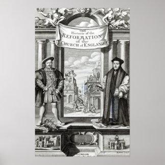 Titlepage a igreja Inglaterra da reforma da histór Pôsteres