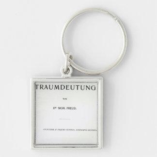 Titlepage a morrer Traumdeutung por Sigmund Freud Chaveiro Quadrado Na Cor Prata