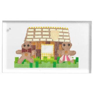 Titular do cartão da mesa do casal da casa de suportes para cartoes de mesa