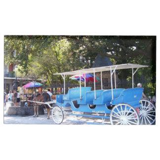Titular do cartão da mesa do cavalo e da carruagem suportes para cartão de mesa