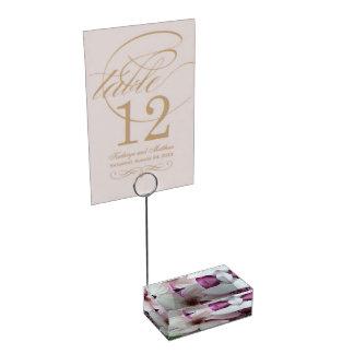 Titular do cartão da mesa - flor da magnólia de suporte para cartoes de mesa