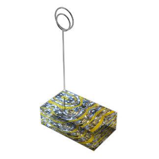 Titular do cartão da pérola & do ouro suporte para cartao de mesa