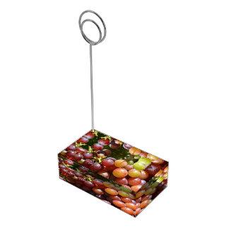 Titular do cartão das uvas suporte para cartao de mesa