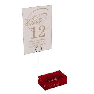 Titular do cartão feito sob encomenda da mesa do suportes para cartão de mesa