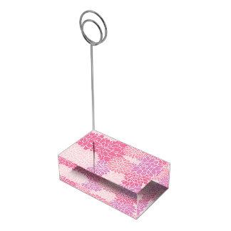 Titular do cartão floral cor-de-rosa da mesa suportes para cartoes de mesa