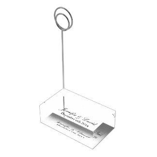 Titular do cartão Monogrammed da mesa para Suporte Para Cartoes De Mesas