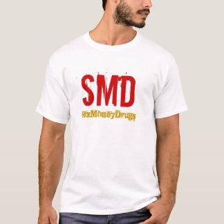 Título SMD-Vermelho do ouro do logotipo Camiseta