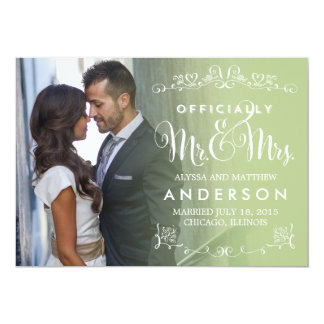 Títulos oficiais que Wedding o anúncio - sábio Convite 12.7 X 17.78cm